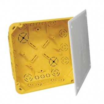 разклонителна кутия за гипсокартон, квадрат, жълта, kopos kolin, ko 110/l, 62106