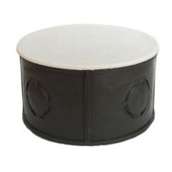 разклонителна кутия за мазилка, с капак, ф68, черна, bg, 20040