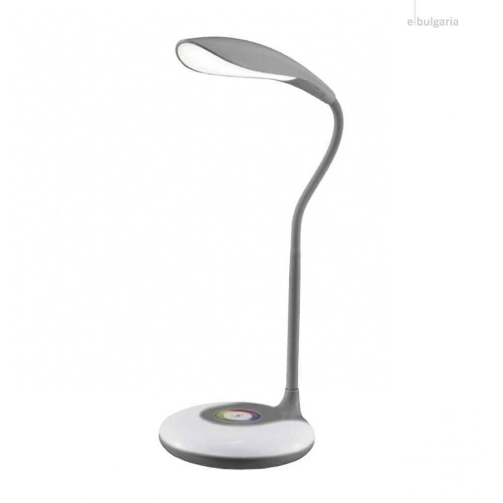 led работна лампа, grey, nino, colori, led 4w, 3000k, 320lm, 50620102