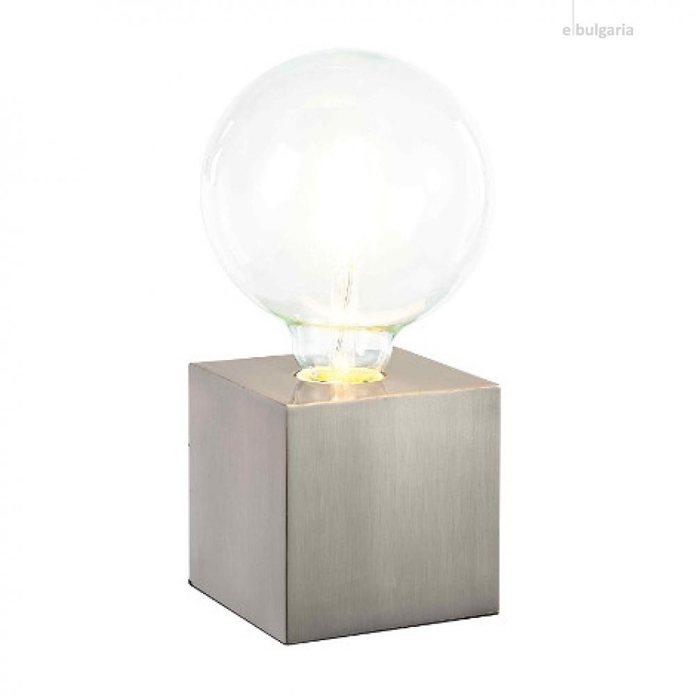 метална настолна лампа, nickel matt, nino, leone, 1x40w, 50240101