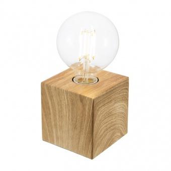 метална настолна лампа, light oak, nino, leone, 1x40w, 50240146