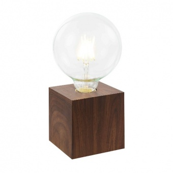 метална настолна лампа, dark oak, nino, leone, 1x40w, 50240147
