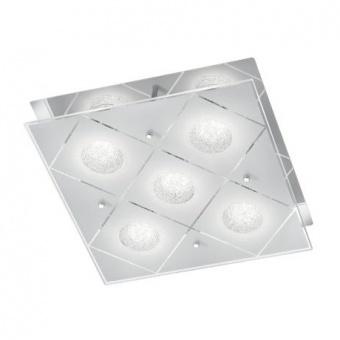 стъклен плафон, chrome, rl, mara, led 5x3w, 1150lm, 3000k, r62455106