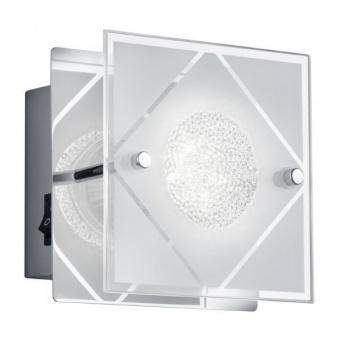 стъклен аплик, chrome, rl, mara, led 1x3w, 230lm, 3000k, r22451106