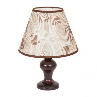 текстилна настолна лампа, кафяв, elbulgaria, 1x40w, 863 cf