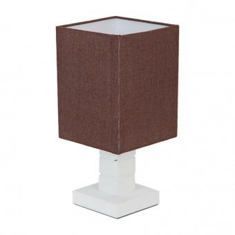 текстилна настолна лампа, бял, elbulgaria, 1x40w, 866 wh