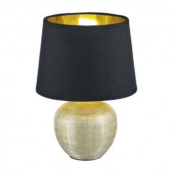 керамична настолна лампа, gold coloured, rl, luxor, 1x40w, r50621079