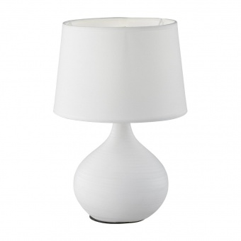 текстилна настолна лампа, white, rl, martin, 1x40w, r50371001