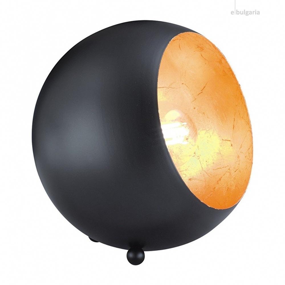 метална настолна лампа, black mat, rl, billy, 1x28w, r50101032