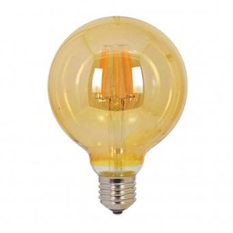 led лампа 6w, vivalux, e27, топла светлина, led vintage, 2700k, 590lm, 003963