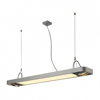 линеен полилей, silver-grey, slv, aixlight r2, led 1x22w+2x75w, 4000k, 3000lm, 159134