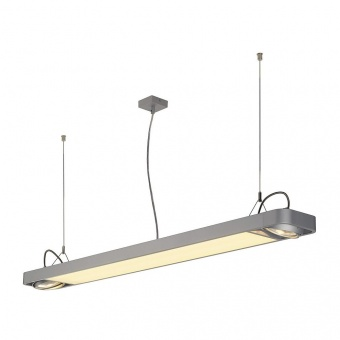 линеен полилей, silver-grey, slv, aixlight r2, led 1x33.5w+2x75w, 4000k, 4100lm, 159144