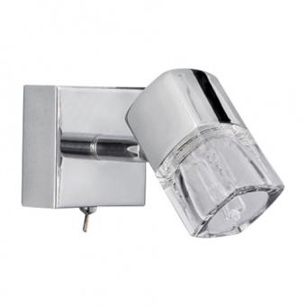 метален спот, chrome, searchlight, blocs, led 1x2.8w, 3000k, 300lm, 9881cc-led