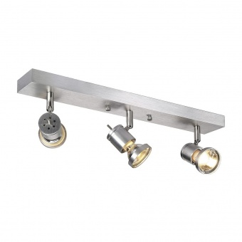 метален спот, aluminium brushed, slv, asto 3, 3x75w, 147443