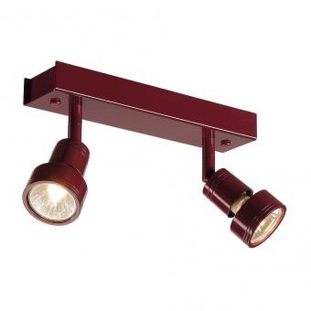 метален спот, wine red, slv, puri 2, 2x50w, 147376