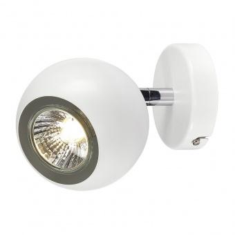 метален спот, white/chrome, slv, light eye 1, 1x50w, 149061