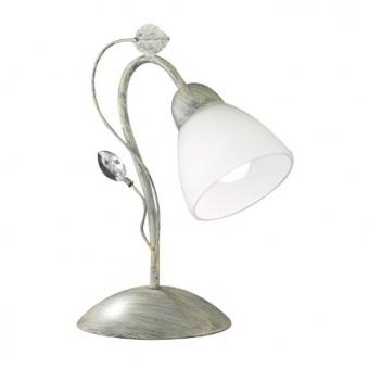 метална настолна лампа, antique grey, trio, traditio, 1x40w, 500700161
