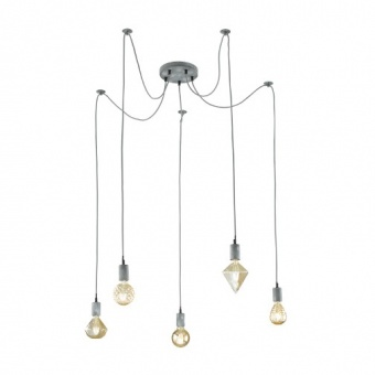 метален полилей, antique grey, trio, cord, 5x60w, 310100561