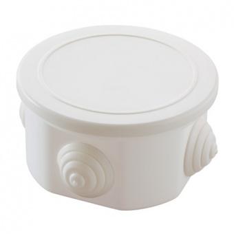 разклонителна кутия, външен монтаж, кръгла,ip44, бяла, makel, 10029