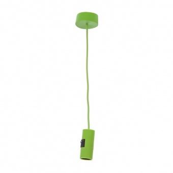 pvc пендел, зелен, elbulgaria, 1x40w, 1172 gr
