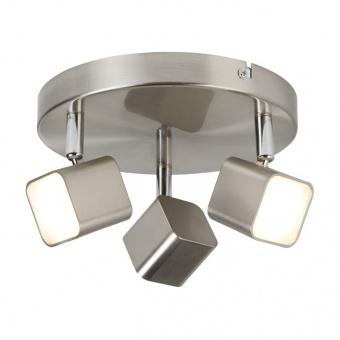 метален спот, satin silver, searchlight, quad, led 3x4w, 3000k, 1050lm, 4233ss