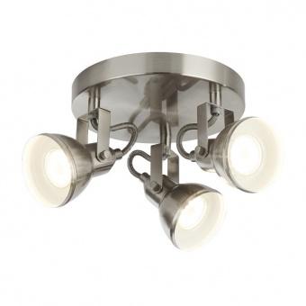 метален спот, satin silver, searchlight, focus, 3x10w, 1543ss