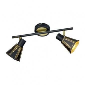 метален спот,  black mat, trio, houston, 2x40w,  800300232