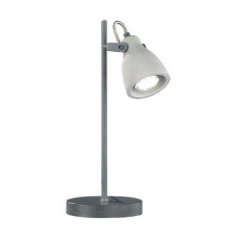 бетонна настолна лампа, gray, trio, concrete, 1x40w, 512500178