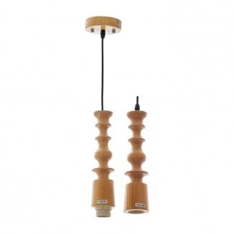дървен пендел, крем, elbulgaria, 1x40w, 1514/wd