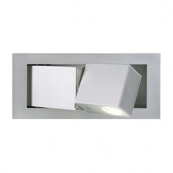 метален аплик, silver-grey, slv, bedside, led 1x3w, 3000k, 110lm, 146252
