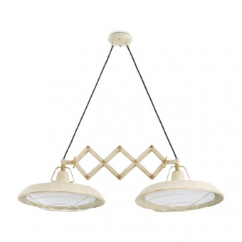 метален полилей, off white, faro, plec, led 2x15w, 2700k, 2400lm, 66215