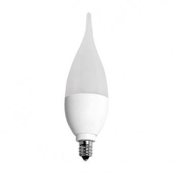 led лампа 5w, e14, бяла светлина, ultralux, пламък, 4200к, 480lm, LF51442
