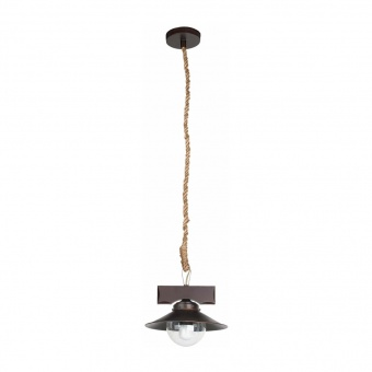 стъклен пендел, dark brown, faro, nudos, 1x40w, 68139