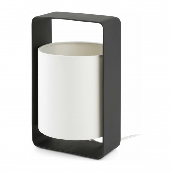 текстилна настолна лампа, black, faro, lula, 1x20w, 28382