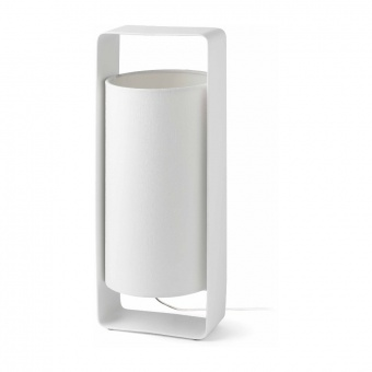 текстилна настолна лампа, white, faro, lula, 1x20w, 28383