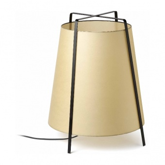 хартиена настолна лампа, black, faro, akane, 1x20w, 28371