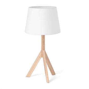 текстилна настолна лампа, wood, faro, versus, 1x40w, 28408