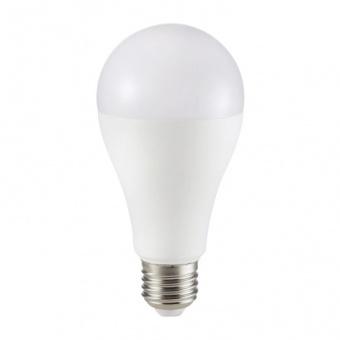 led лампа 17w, e27, топла светлина, a65 bulb, samsung чип, 3000k, 1521lm, 162
