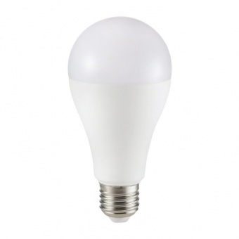 led лампа 17w, e27, студена светлина, a65 bulb, samsung чип, 6400k, 1521lm, 164