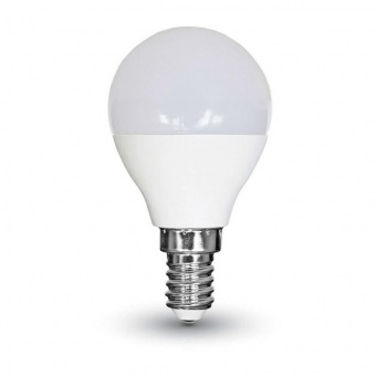 led лампа 5.5w, e14, студена светлина, p45 bulb, samsung чип, 6400k, 470lm, 170
