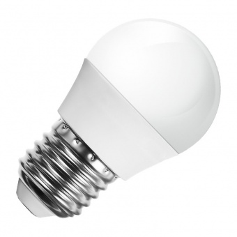 led лампа 5.5w, e27, бяла светлина, g45 bulb, samsung чип, 4000k, 470lm, 175