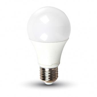 led лампа 9w, e27, 24v, студена светлина, a60 bulb, 6400k, 720lm, 7224
