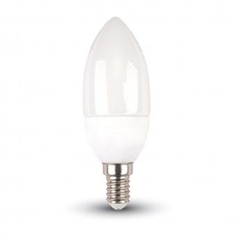 led лампа 4w, e14, бяла светлина, candle bulb, 4000k, 320lm, 4166