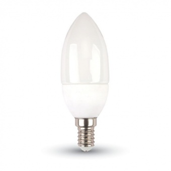 led лампа 5.5w, e14, студена светлина, candle bulb, 6400k, 470lm, 42411