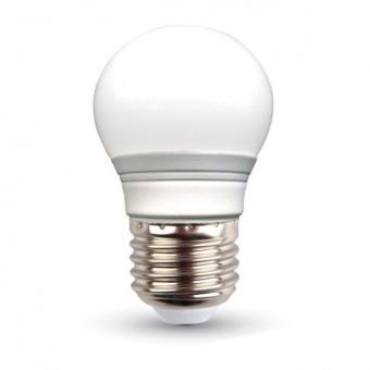 led лампа 3w, e27, бяла светлина, g45 bulb, 4000k, 250lm, 7203