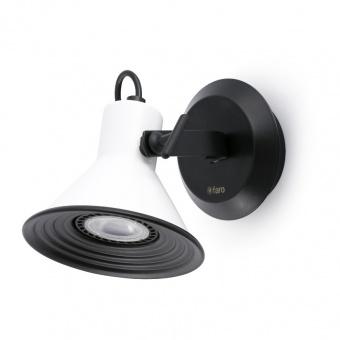 метален спот, white, faro, cup, 1x8w, 40582