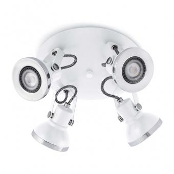 метален спот, white, faro, ring, 4x8w, 40559