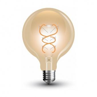лед лампа 4w, e27, топла светлина, g125 filament bulb, 2200k, 480lm, 7328