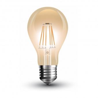 led лампа 8w, e27, топла светлина, a60 filament bulb, 2200k, 720lm, 4472