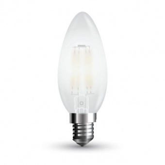 led лампа 4w, e14, топла светлина, dimmable candle filament, 2700k, 3500lm, 7176